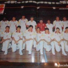 Coleccionismo deportivo: POSTER REVISTA PRONTO SELECCION BALONCESTO ESPAÑOLA ESPAÑA 1986. Lote 103429039