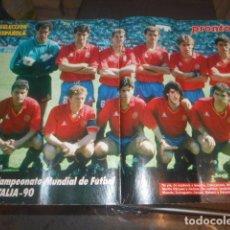 Coleccionismo deportivo: POSTER REVISTA PRONTO SELECCION ESPAÑOLA DE FUTBOL ITALIA 1990. Lote 103429863