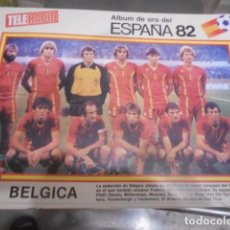 Coleccionismo deportivo: POSTER REVISTA TELERADIO ESPAÑA 1982 - SELECCION BELGICA. Lote 103431435
