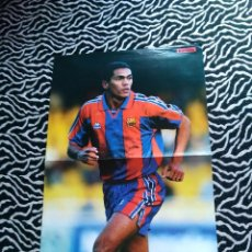 Coleccionismo deportivo: ANTIGUO DOBLE PÓSTER 2 PÁG: GIOVANNI (F.C.BARCELONA, BARÇA) Y DANI (AJAX AMSTERDAM) LIGA 1997-1998. Lote 103516603