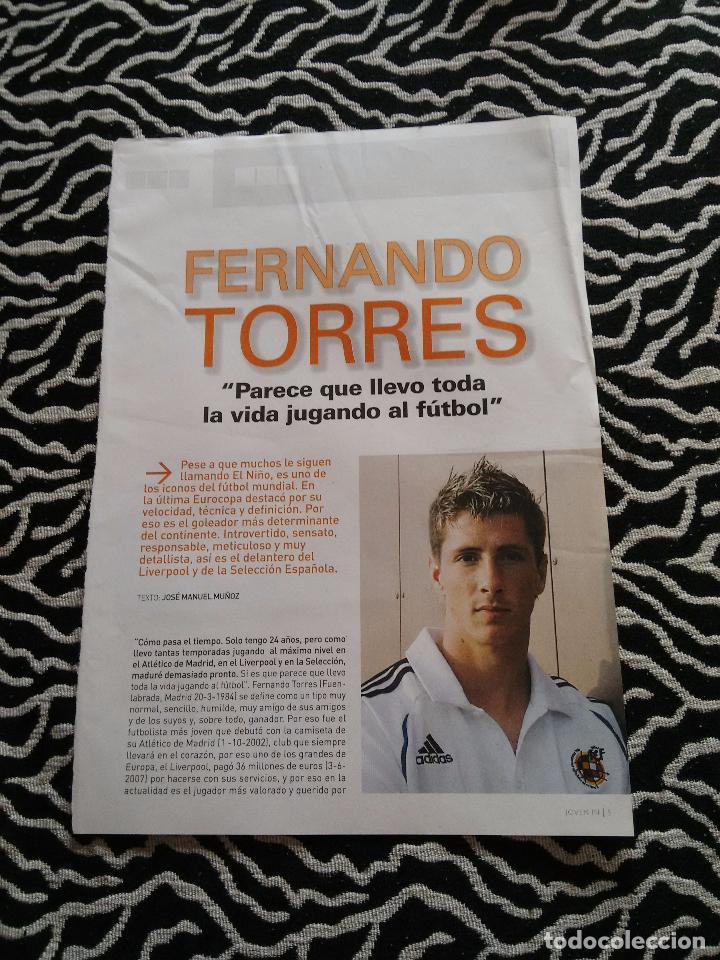 Coleccionismo deportivo: FOTO CASI 1PÁGINA REVISTA IN JOVEN +2 PÁGINAS REPORTAJE: FERNANDO TORRES (ESPAÑA,ATLÉTICO DE MADRID) - Foto 3 - 103862603