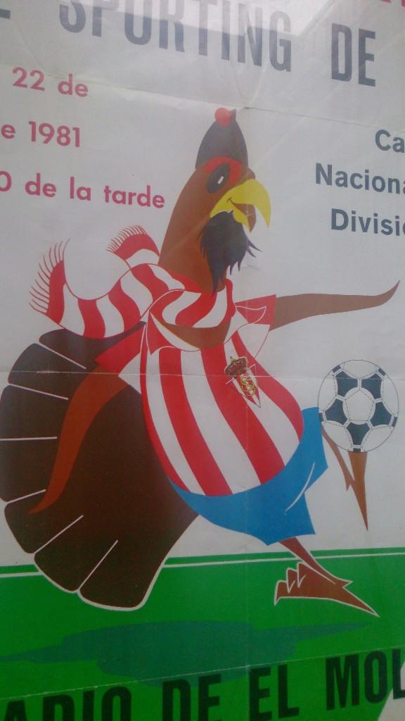 Coleccionismo deportivo: Cartel enmarcado cuadro Sporting de Gijon Almería año 1981 - Foto 2 - 104368939