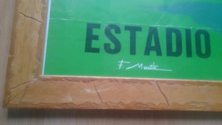 Coleccionismo deportivo: Cartel enmarcado cuadro Sporting de Gijon Almería año 1981 - Foto 3 - 104368939