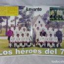 Coleccionismo deportivo: POSTER VALENCIA C.F. - LOS HEROES DEL 71 - 41X27CM. Lote 105307935