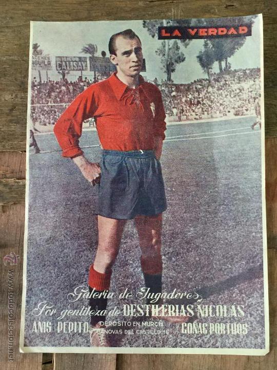 LAMINA JUGADOR DEL REAL MURCIA 1955 - PERIODICO LA VERDAD (Coleccionismo Deportivo - Carteles de Fútbol)