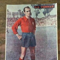 Coleccionismo deportivo: LAMINA JUGADOR DEL REAL MURCIA 1955 - PERIODICO LA VERDAD. Lote 105630259