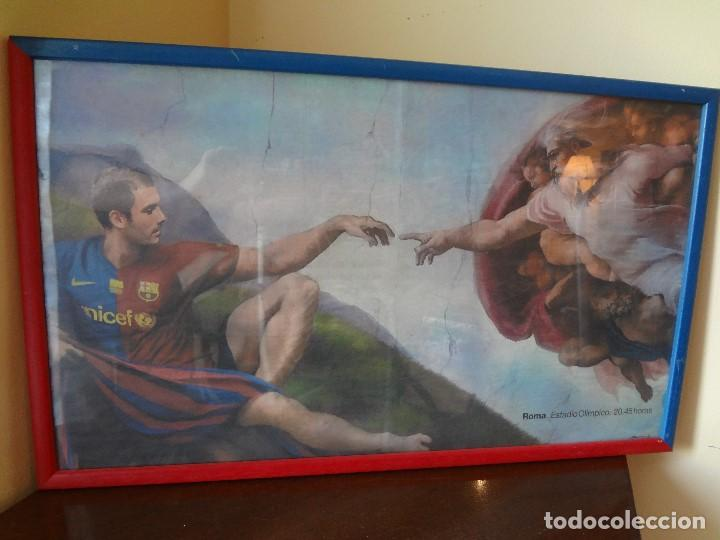 Coleccionismo deportivo: Cuadro BARÇA de PEP GUARDIOLA año 2009 - Foto 2 - 75428051