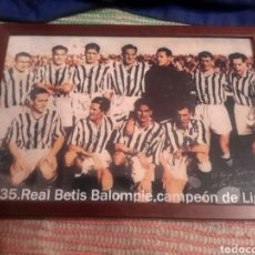 Coleccionismo deportivo: CUADRO ANTIGUO DEL REAL BETIS CAMPEÓN DE LIGA DE 1935. Lote 106021839