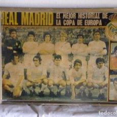 Coleccionismo deportivo: POSTER LAMINA FUTBOL REAL MADRID COPA EUROPA AÑOS 60 FUTBOLITA AMANCIO ZOCO SANTILLANA VELAZQUEZ . Lote 107382283