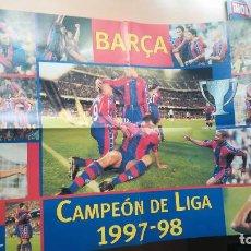 Coleccionismo deportivo: POSTER FUTBOL CLUB BARCELONA BARÇA CAMPEON DE LIGA 1997-1998 - EL MUNDO DEPORTIVO. Lote 107501831