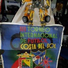 Coleccionismo deportivo: ÚNICO Y DIFICILÍSIMO CARTEL DEL III TROFEO INTERNACIONAL DE FÚTBOL COSTA DEL SOL .MÁLAGA AGOSTO 1963. Lote 107560740