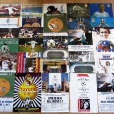 Coleccionismo deportivo: CARTELES REAL MADRID 30 COLECCION COMPLETA JUANITO GORDILLO AMANCIO ZOCO PUSKAS GORDILLO BUTRAGUEÑO. Lote 107780183