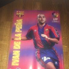 Coleccionismo deportivo: PÓSTER IVAN DE LA PEÑA CHICLES VIDAL FC BARCELONA BARÇA. Lote 108280115