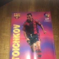 Coleccionismo deportivo: PÓSTER STOICHKOV CHICLES VIDAL FC BARCELONA BARÇA. Lote 108280155