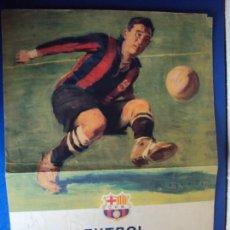 Coleccionismo deportivo: (F-180177)CARTEL ILUSTRADO POR SEGRELLES PARTIDO C.F.BARCELONA AÑO 1950 ORIGINAL CAMPO DE LAS CORTS. Lote 108431091