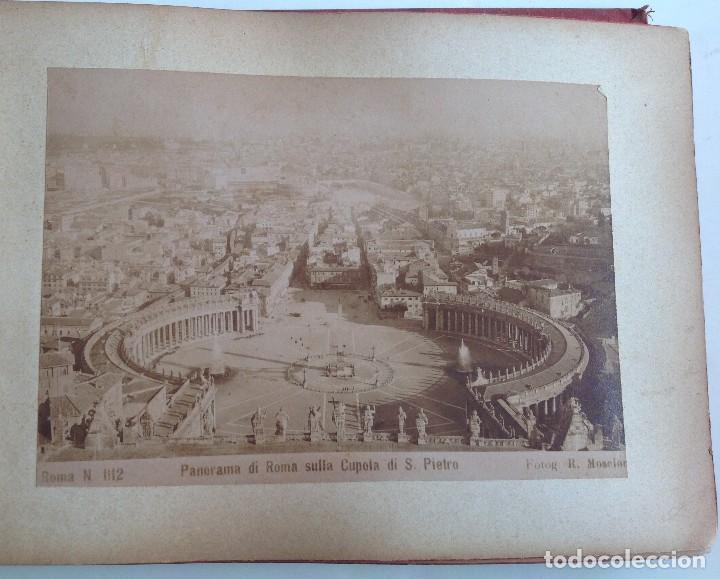 CA. 1900 * ROMA * ANTIGUO ALBUM DE FOTOGRAFIAS DE SUS MONUMENTOS * 36 FOTOS DE R. MOSCIONI (Coleccionismo Deportivo - Carteles de Fútbol)