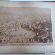 Coleccionismo deportivo: CA. 1900 * ROMA * ANTIGUO ALBUM DE FOTOGRAFIAS DE SUS MONUMENTOS * 36 FOTOS DE R. MOSCIONI. Lote 109179043
