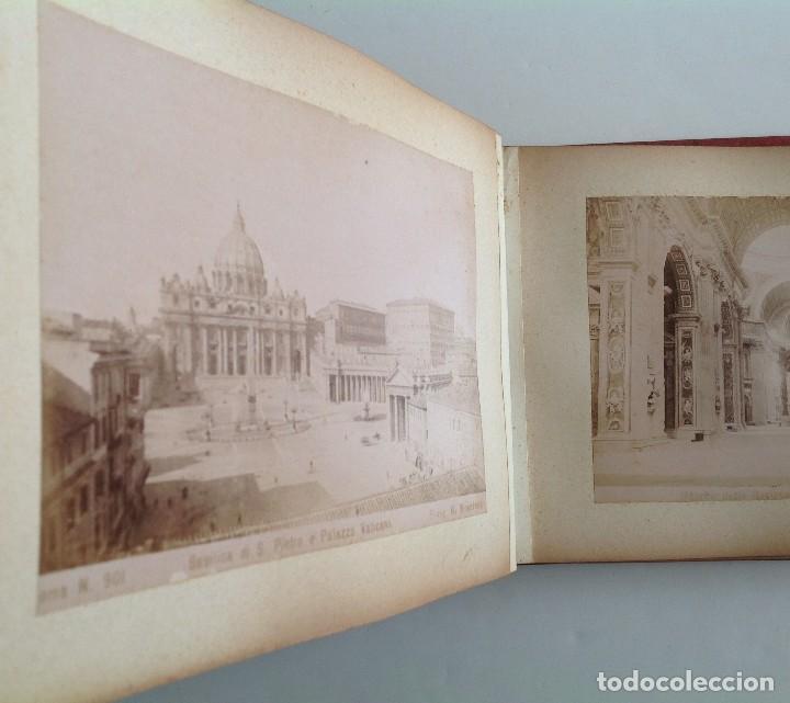 Coleccionismo deportivo: Ca. 1900 * ROMA * ANTIGUO ALBUM DE FOTOGRAFIAS de sus monumentos * 36 fotos de R. Moscioni - Foto 2 - 109179043