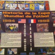 Coleccionismo deportivo: 8 POSTER DE LA HISTORIA DE LA COPA MUNDIAL DE FÚTBOL. DE ÉPOCA DE 1930 A 1998. Lote 109265011