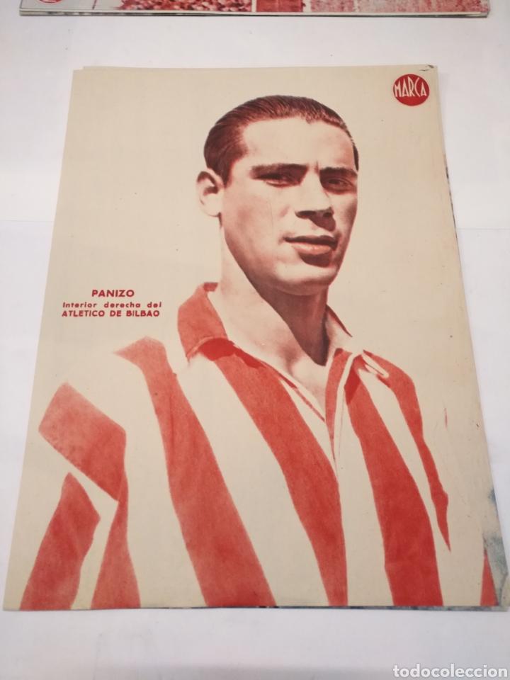 Coleccionismo deportivo: LOTE DE 12 POSTERS DE FUTBOL MARCA TEMPORADA 1942 - 1943. REAL MADRID / VALENCIA / DEPORTIVO - Foto 9 - 109284810