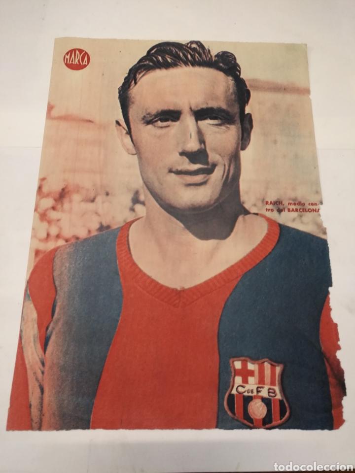 Coleccionismo deportivo: LOTE DE 12 POSTERS DE FUTBOL MARCA TEMPORADA 1942 - 1943. REAL MADRID / VALENCIA / DEPORTIVO - Foto 11 - 109284810