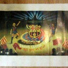 Coleccionismo deportivo: LAMINA NUMERADA FC BARCELONA CAMPEON LIGA 1984-85 BARÇA CAMPIÓ LLIGA CARLOS CASTILLO SEAS 70X50. Lote 109602206