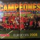 Coleccionismo deportivo: EURO 2008. PÓSTER SELECCIÓN ESPAÑOLA. DOBLE CARA. Lote 110461986