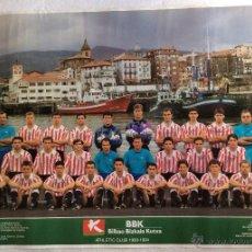 Coleccionismo deportivo: ATHLÉTIC CLUB DE LA TEMPORADA 1993/1994 ,POSTER DE LA BBK -IDEAL COLECCIONISTAS. Lote 110653183