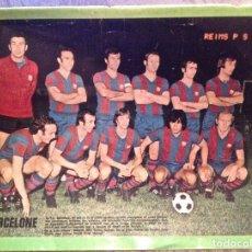 Coleccionismo deportivo: CRUYFF. FC BARCELONA. LÁMINA CONTRA PSG, 1974. BUEN ESTADO.. Lote 211476111