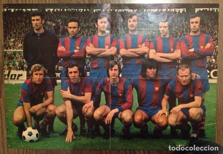 CRUYFF. CRUIJFF. FC BARCELONA. POSTER WILLIAMS. CAMPEONES 74. BUEN ESTADO. (Coleccionismo Deportivo - Carteles de Fútbol)