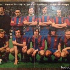 Coleccionismo deportivo: CRUYFF. CRUIJFF. FC BARCELONA. POSTER WILLIAMS. CAMPEONES 74. BUEN ESTADO.. Lote 111440003