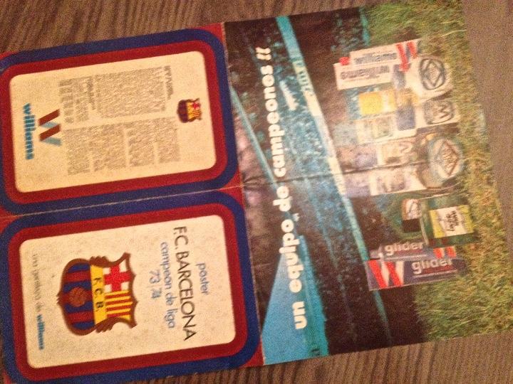 Coleccionismo deportivo: CRUYFF. Cruijff. FC Barcelona. Poster Williams. Campeones 74. Buen estado. - Foto 2 - 111440003