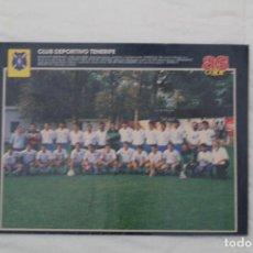 Coleccionismo deportivo: PÓSTER DEL CD TENERIFE. TEMPORADA 90-91 (REVISTA AS COLOR). Lote 112446019