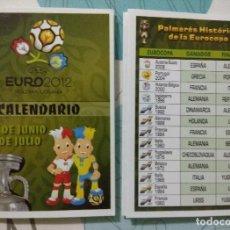Coleccionismo deportivo: CALENDARIO UEFA EURO 2012 POLONIA/UCRANIA. Lote 112662859