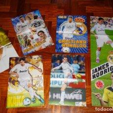 Coleccionismo deportivo: LOTE POSTERS REAL MADRID CHAMPIONS LEAGUE RONALDO LIGA COPA PLANTILLA BALE BENZEMA POSTER DON BALON. Lote 112838223