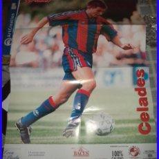 Coleccionismo deportivo: BARCELONA CLUB DE FUTBOL POSTER SPORT CELADES 80/60 CM. Lote 113211795