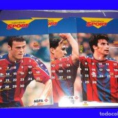 Coleccionismo deportivo: BARCELONA CLUB DE FUTBOL CALENDARIO SPORT 12 FICHAS/MESES . Lote 113212583