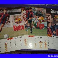 Coleccionismo deportivo: BARCELONA CLUB DE FUTBOL CALENDARIO SPORT 1996 11 FICHAS/MESES CON LOS JUGADORES. Lote 113212635