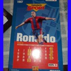Coleccionismo deportivo: BARCELONA CLUB DE FUTBOL CALENDARIO SPORT 1997 12 FICHAS/MESES CON LOS JUGADORES. Lote 113212719