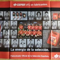 Coleccionismo deportivo: POSTER CEPSA SELECCION ESPAÑOLA FUTBOL FRANCIA 98. Lote 113438291