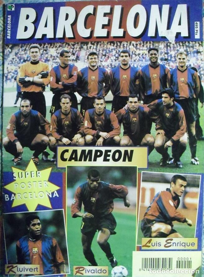 PÓSTER DESPLEGABLE DEL F.C. BARCELONA (AÑOS 90) - FÚTBOL (Coleccionismo Deportivo - Carteles de Fútbol)