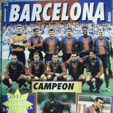 Coleccionismo deportivo: PÓSTER DESPLEGABLE DEL F.C. BARCELONA (AÑOS 90) - FÚTBOL. Lote 113872683