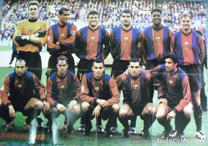 Coleccionismo deportivo: Póster desplegable del F.C. Barcelona (años 90) - Fútbol - Foto 2 - 113872683