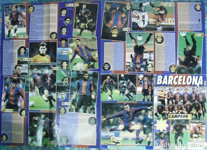 Coleccionismo deportivo: Póster desplegable del F.C. Barcelona (años 90) - Fútbol - Foto 3 - 113872683