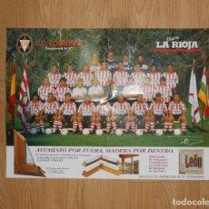 Coleccionismo deportivo: POSTER CARTEL CLUB DEPORTIVO LOGROÑES. TEMPORADA 96/97. 1996-1997. TDKP1. Lote 113896203