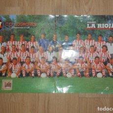 Coleccionismo deportivo: POSTER CARTEL CLUB DEPORTIVO LOGROÑES. TEMPORADA 97-97. 1997-1998. TDKP1. Lote 113896487