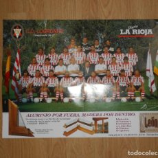 Coleccionismo deportivo: POSTER CARTEL CLUB DEPORTIVO LOGROÑES. TEMPORADA 96-97. 1996-1997. TDKP5. Lote 113896551