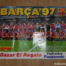 Coleccionismo deportivo: POSTER CARTEL DE GRAN FORMATO. F.C. BARCELONA. BARÇA 97. 1997. TDKP1. Lote 113896963