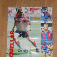 Coleccionismo deportivo: POSTER DEL F.C. BARCELONA. ANTONIO CUELLAR. SPORT. BARÇA. TDKP1. Lote 113897143