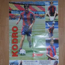 Coleccionismo deportivo: POSTER CARTEL DE MEHO KODRO. F.C. BARCELONA. BARÇA. GIGANTE. TDKP1. Lote 113897559